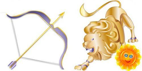 любов лева і стрільця