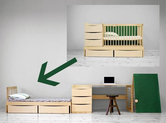 Дитяче ліжко-трансформер - функціональне рішення за розумні гроші