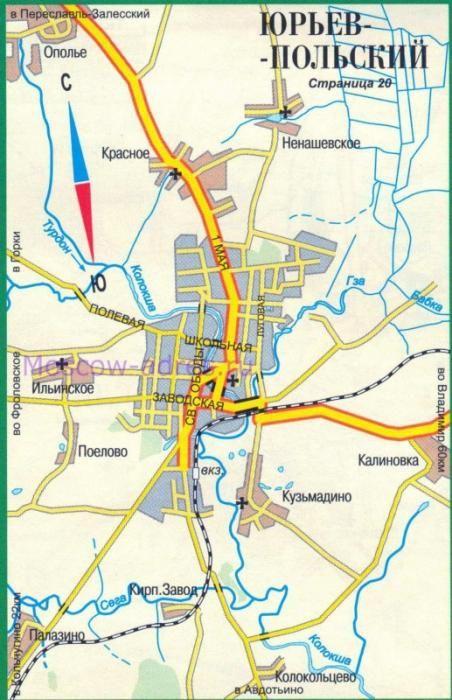 юрьев польський пам`ятки карта