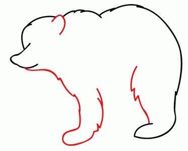 як намалювати ведмедика поетапно