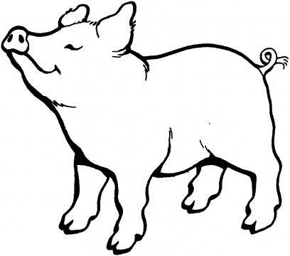 як намалювати свиню під дубом