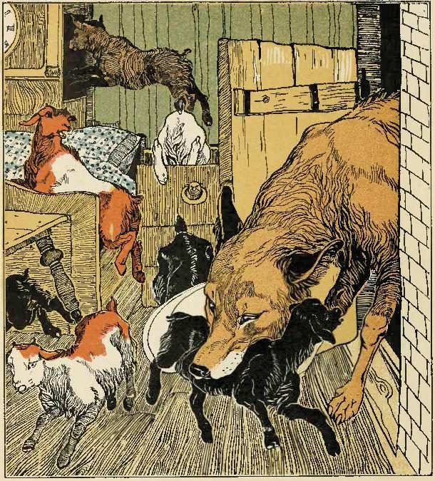 Як намалювати вовка і козенят