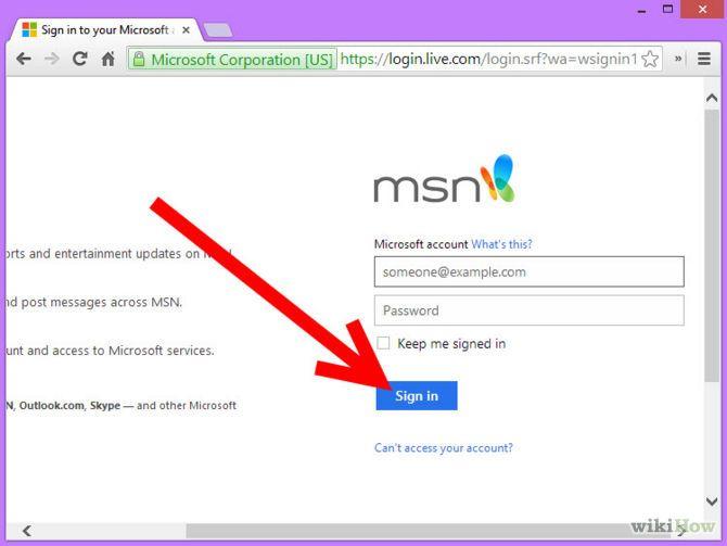 Зображення з назвою Change MSN Password Step 1