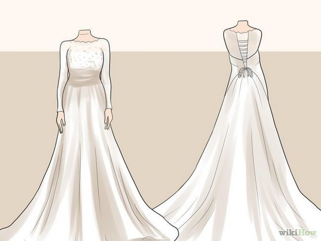 Як зробити турнюр на весільній сукні