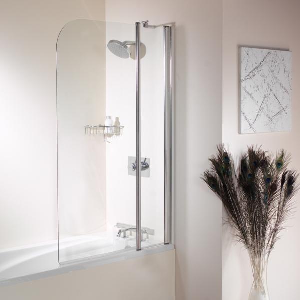 Скляна штора для ванної - стильно і зручно