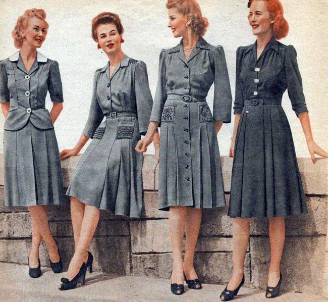 Мода і стиль часів другої світової війни