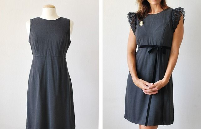 Старе сіру сукню і мереживо