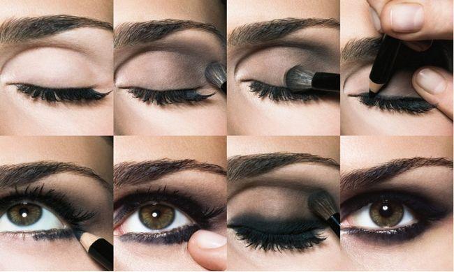 Як зробити макіяж смокі айс для карих очей